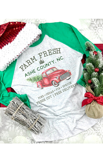 Ashe County Christmas Trees Raglan