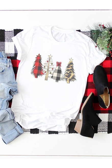 Buffalo Plaid Leopard Trees