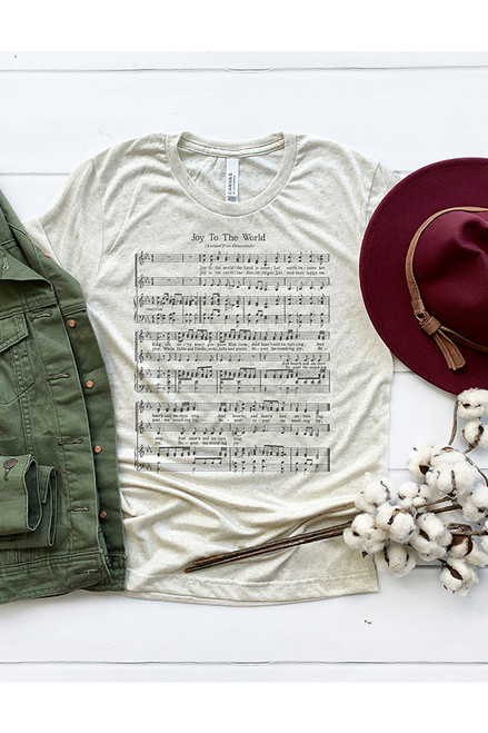 Joy to the World Sheet Music Graphic Tee