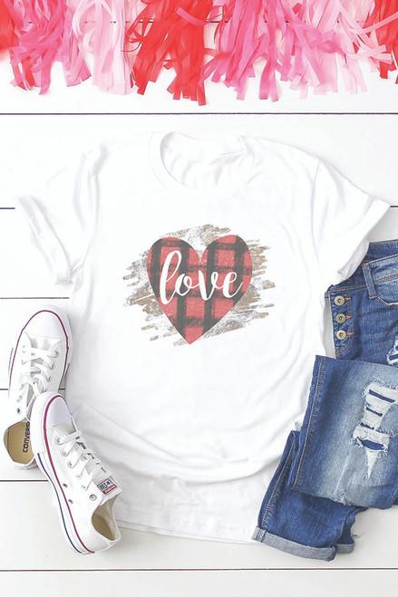Love Buffalo Plaid Heart