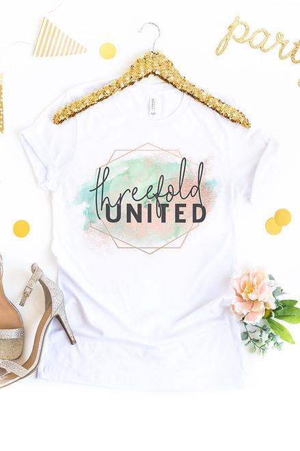 Threefold United White Tee