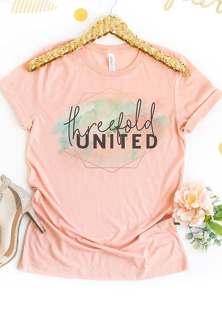 Threefold United Peach Tee