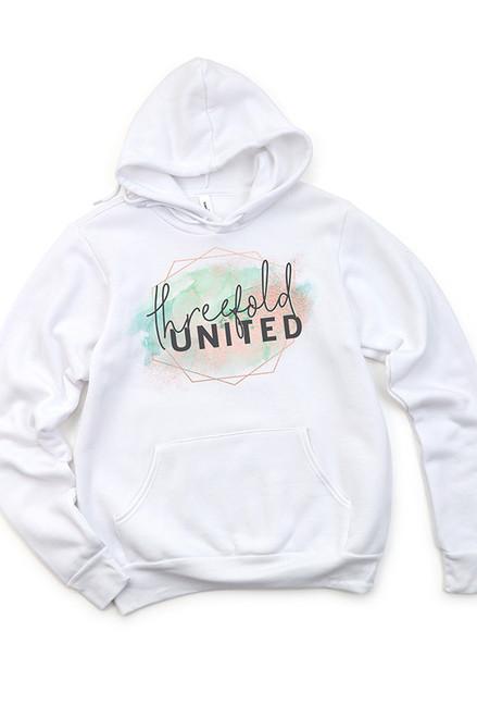 Threefold United White Hooded Sweatshirt
