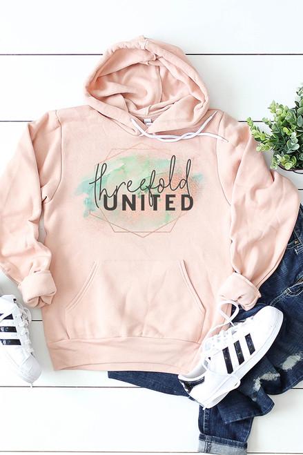 Threefold United Peach Hooded Sweatshirt