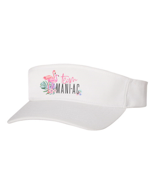 Team Mani-Ac White Visor