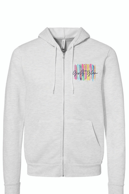 Team Girly Glam Ash Full Zip Hoodie