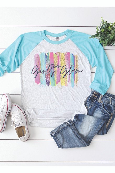 Team Girly Glam Baseball Tee