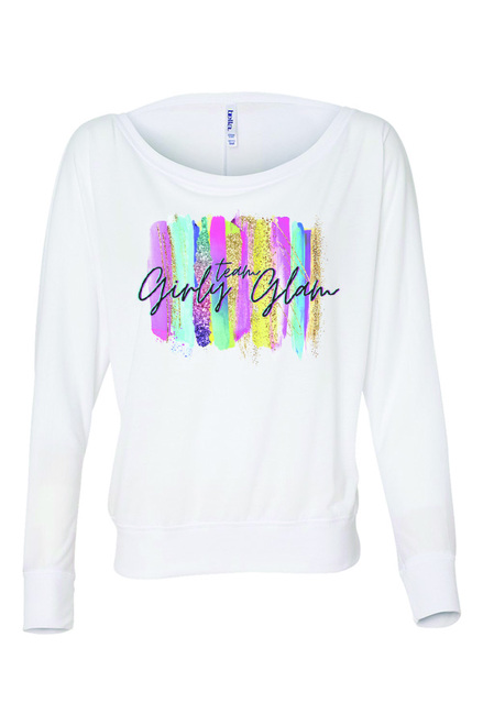 Team Girly Glam Off The Shoulder Long Sleeve Tee