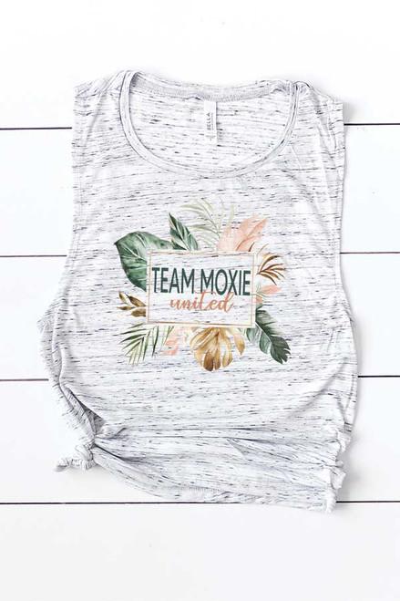 Team Moxie White Marble Muscle Tank