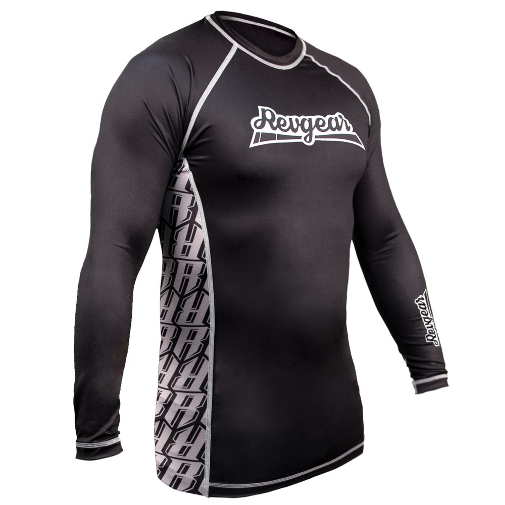 The Shield Long Sleeve Rash Guard - Black