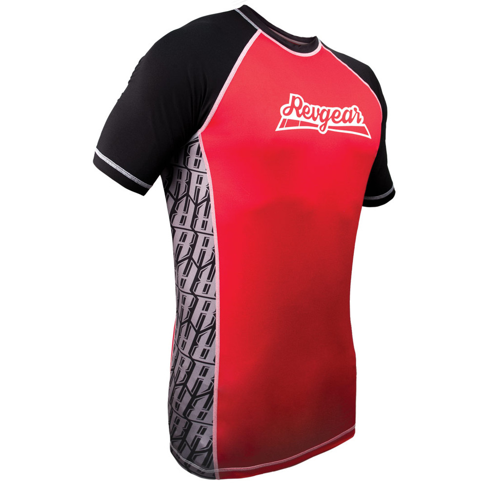 431ab92a7d The Shield Short Sleeve Rash Guard - Red - Revgear
