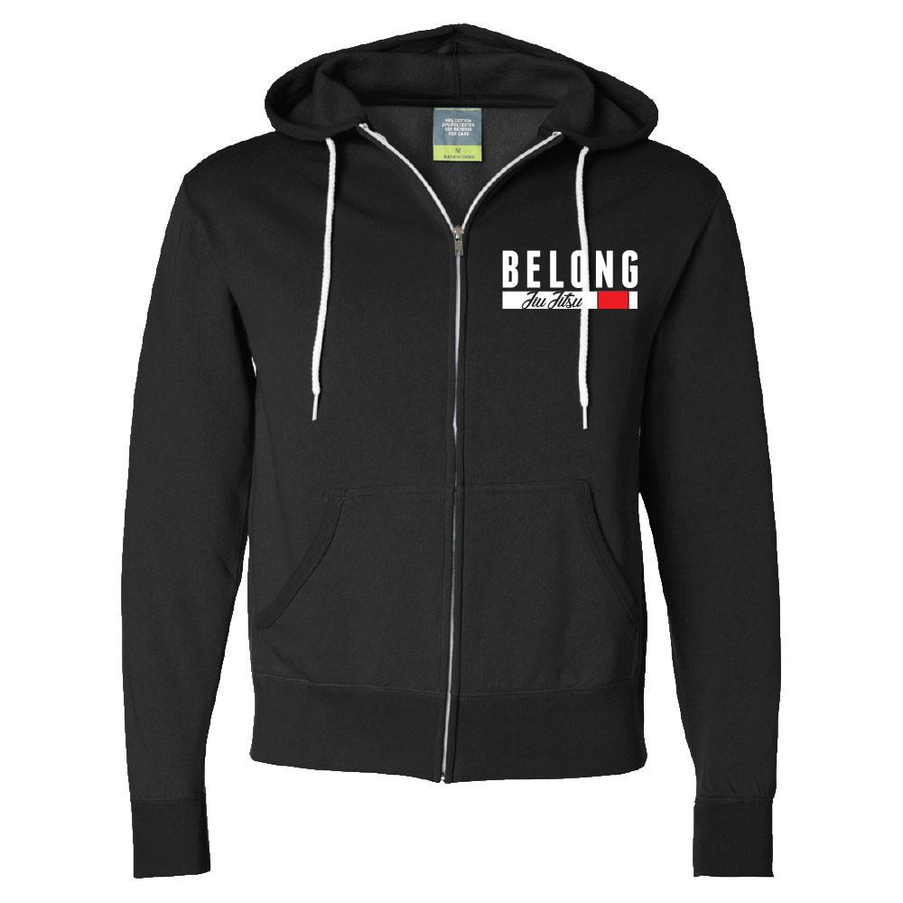 Revgear Belong BJJ Zip Up Hoodie - Black