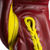 S4 Sentinel Lace Pro Leather Gel Boxing Gloves - Ring Red