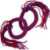 Prajead Traditional Style Elastic Muay Thai Armband - Purple/Red