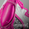 Deluxe Pro Leather MMA Gel Sparring Gloves - White/Pink