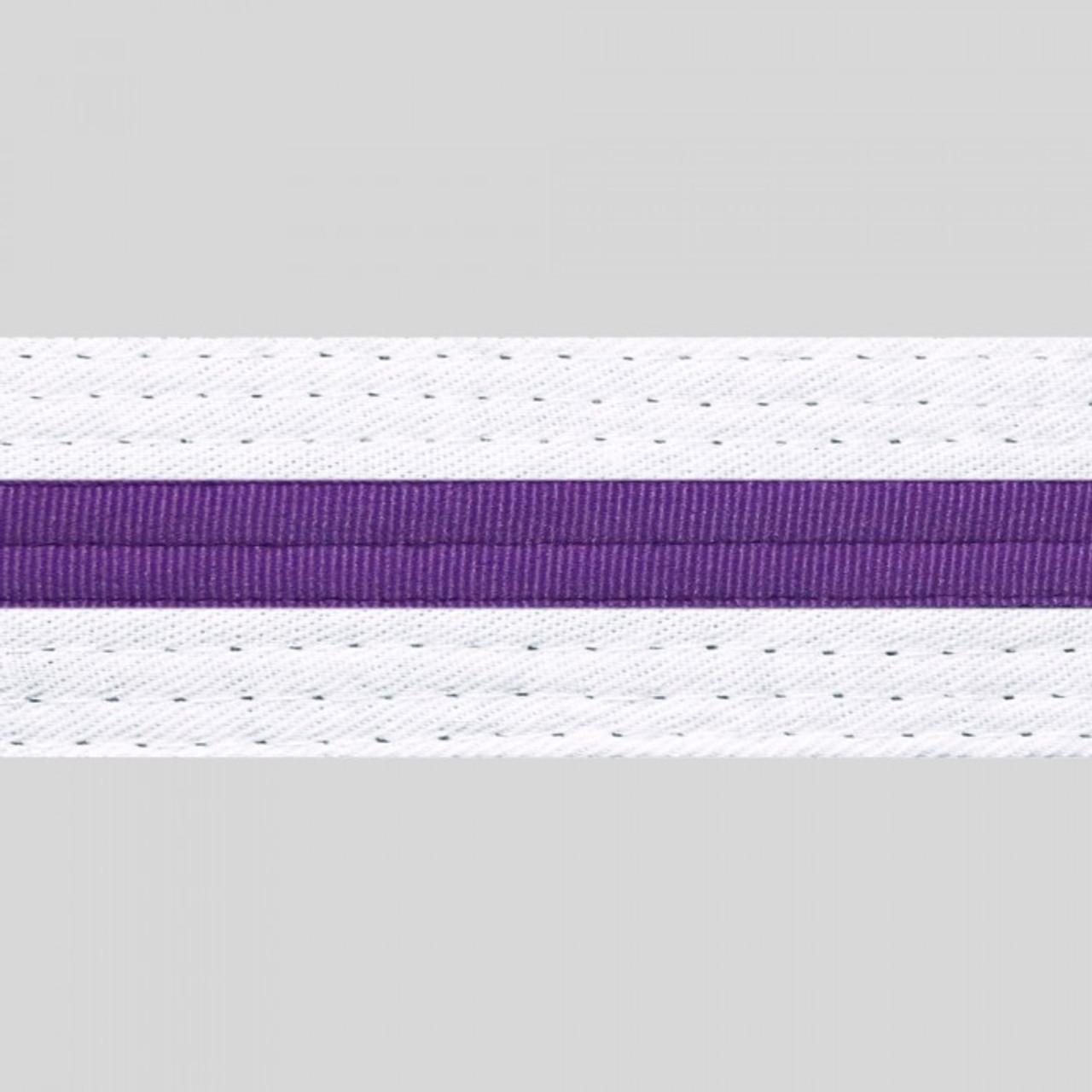 Striped White Belt
