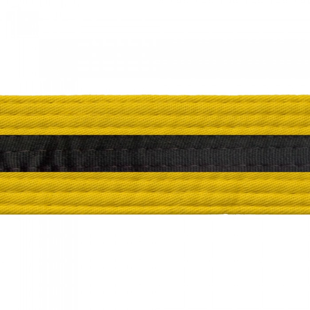 Black Striped Colored Belt