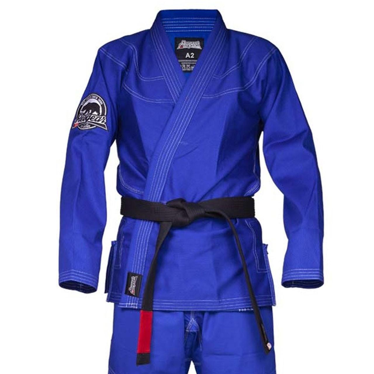 BJJ Jiu Jitsu Gi Uniform Brazilian Martial Arts Adults round corners Blue