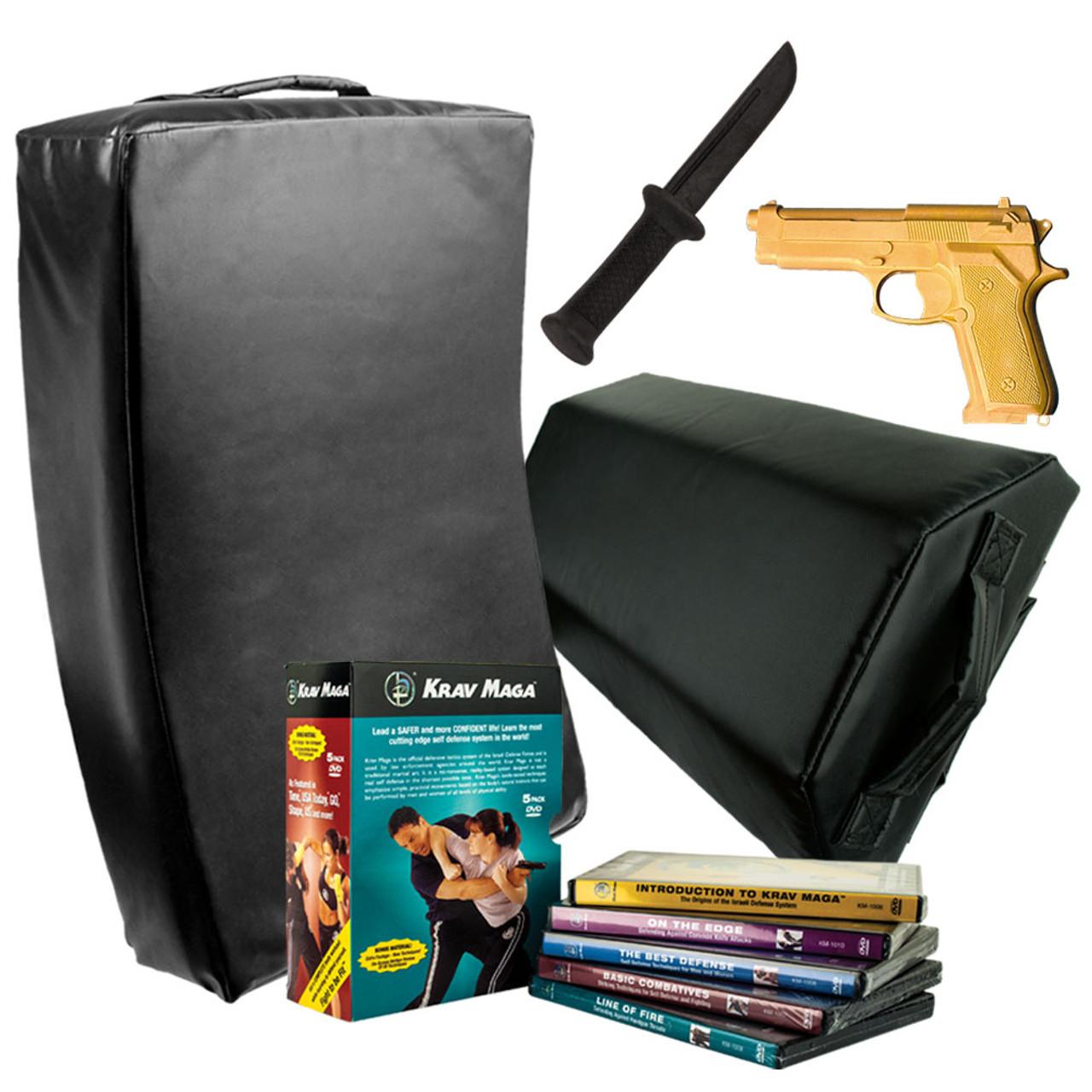 Krav Maga DVD Series and Shield Kit - Includes DVD set, Shields, Training Knife and Training Gun -Free Shipping