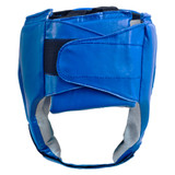 Open Face Leather Headgear - Blue