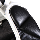 MMA Pro Leather Training Sparring Gloves - Black