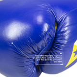 S4 Sentinel Lace Pro Leather Gel Boxing Gloves - Authentic Blue
