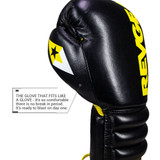 S4 Sentinel Lace Pro Leather Gel Boxing Gloves - Vintage Black