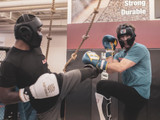S4 Sentinel Lace Pro Leather Gel Boxing Gloves - Vintage Black