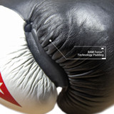Sentinel S3 Pro Leather Gel Padded Boxing Gloves - Black/Red