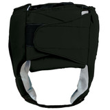 Open Face Leather Headgear - Black