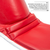 Superlite Light Weight Leather Shin Guards | for Martial Arts and MMA | Red