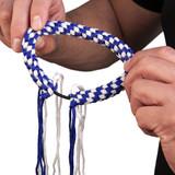 Prajead Traditional Style Elastic Muay Thai Armband - Blue/White