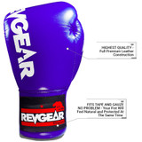 F1 Competitor Lace Boxing Gloves - Blue