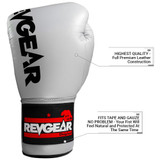 F1 Competitor Lace Boxing Gloves - Grey