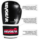 S5 All Rounder Boxing Glove - Blk/White