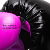 Pinnacle P4 Boxing Glove - Black/Pink