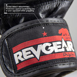 Deluxe Pro Leather MMA Gel Sparring Gloves - Black