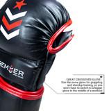 Premier Deluxe MMA Training Glove - Black/Red