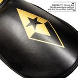 Pinnacle P4 Shin Guards - Black/Gold