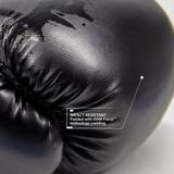 Youth Combat Series Boxing Gloves| for Martial Arts, Krav Maga and MMA | Black/Matte Black