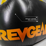 Sentinel S3 Pro Leather Gel Boxing Gloves - LIMITED EDITION - Black/Orange