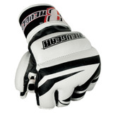 Deluxe Pro Leather MMA Sparring Gloves - Black