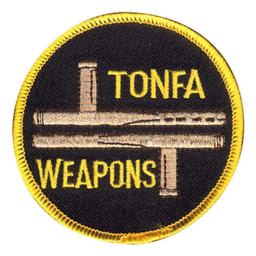 Tonfa Weapons Round Patch