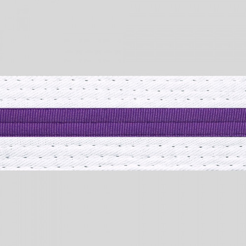 Striped White Belt