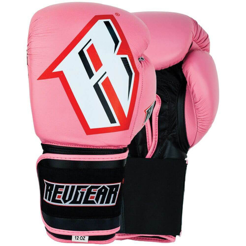 Sentinel S3 Pro Leather Gel Padded Sparring Boxing Gloves - Pink/Black