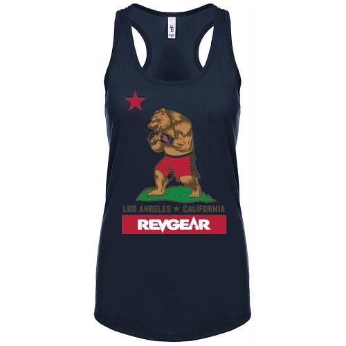 Women's Cali Racerback Tank - Navy