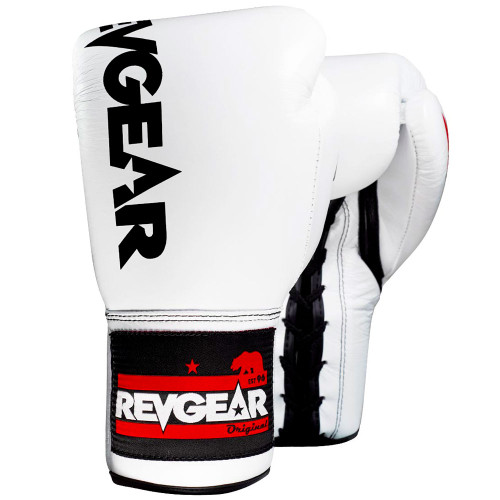 F1 Competitor Lace Boxing Glove - White