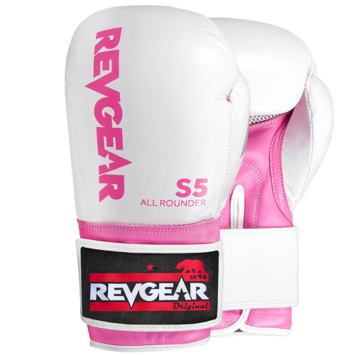 S5 All Rounder Boxing Glove - White/Pink