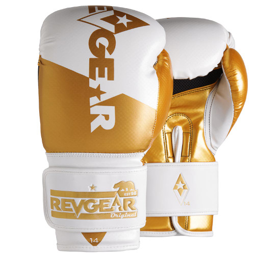 Pinnacle P4 Boxing Glove - White/Gold