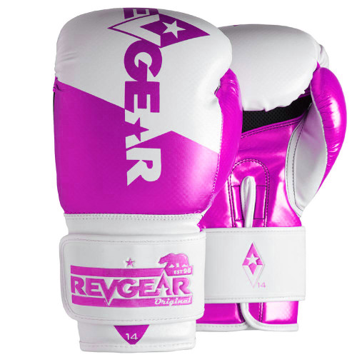 Pinnacle P4 Boxing Glove - White/Pink